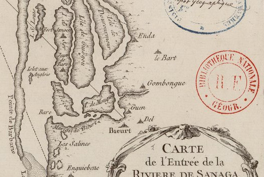 Carte 1740 du Sénégal (Source Gallica - BNF)